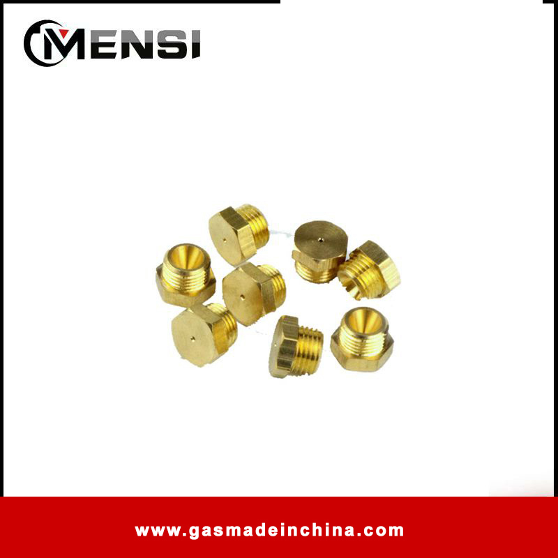 M8X1 Nuts with 0.75mm lpg nozzle for gas appliance