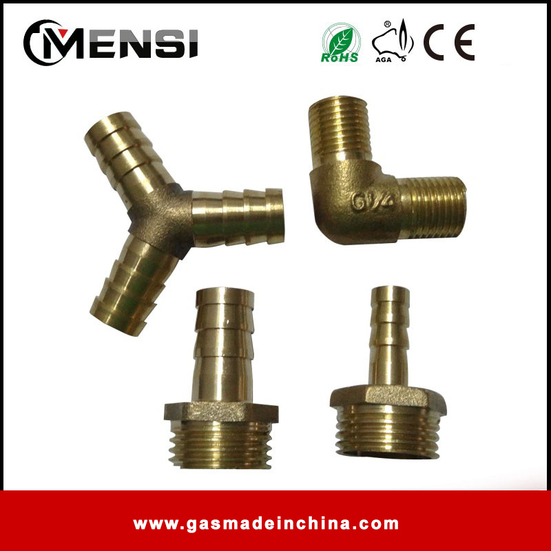 Brass gas pipe connectors / gas pipe fittings / gas hose connecter