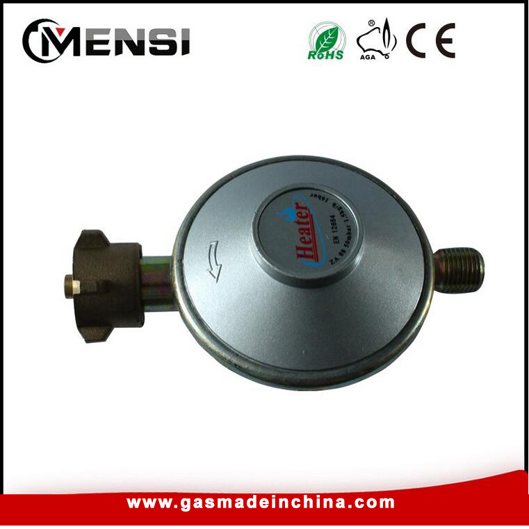High pressure gas regulator valve cylinder valve