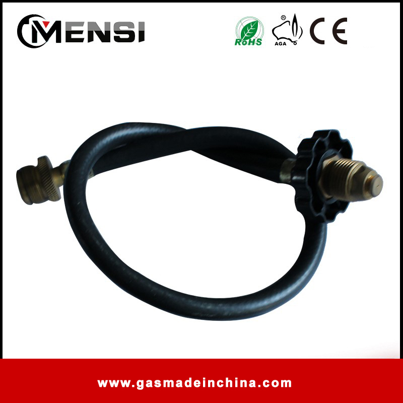Rubber flexible gas hose for gas grill