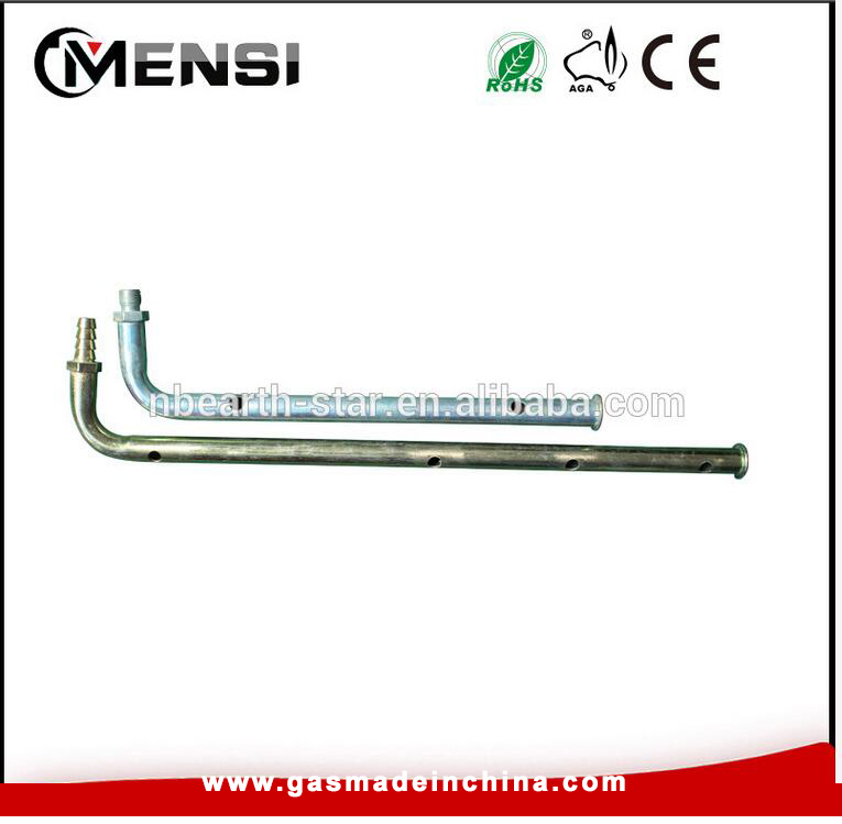 Steel lpg barbecue grill manifold pipe